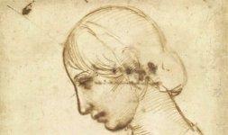 Raffaello, 'Profilo femminile', Firenze, Gabinetto Disegni e Stampe degli Uffizi