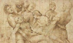 Raffaello, 'Trasporto di Cristo', Firenze, Gabinetto Disegni e Stampe degli Uffizi