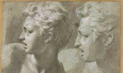 Parmigianino, 'Due teste di profilo', Firenze, Gabinetto Disegni e Stampe degli Uffizi