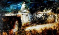 Gianni Testa, 'Giubileo', 2000. Olio su tela, 50x100