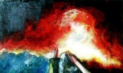 Gianni Testa, 'Inferno' Canto XII, 1999. Olio su tela 60x60