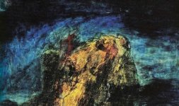 Gianni Testa, 'Purgatorio' Canto XXVI, 1990. Olio su tela 60x60