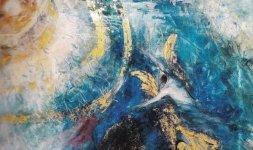 Gianni Testa, 'Paradiso' Canto XVII, 1998. Olio su tela 60x60
