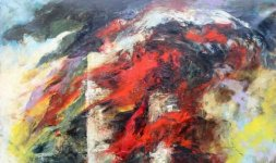 Gianni Testa, 'Undici Settembre', 2001, olio su tela 150x100