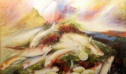 Gianni Testa, 'Monolite', 1975, olio su tela 80x120