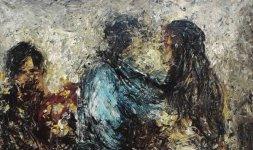 Gianni Testa, 'Momento Arcaico', 1972, olio su tela 140x130