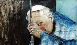 Gianni Testa, 'S.S. Giovanni Paolo II', 2000, olio su tela 80x80