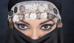 Trucco arabo. Make-up ©Rossano De Cesaris. Ph ©Andriy Monastyrskyy