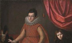 Domenico Casini (Firenze, 1588 - 1660) / Valore Casini (Firenze, 1590 - 1660) (qui attr.), 'Ritratto di Odoardo Farnese con un nano e un cane'