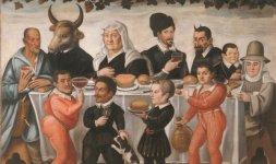 Anonimo pittore toscano del XVII secolo, 'Banchetto grottesco'