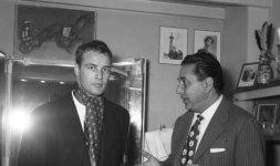 Marlon Brando nel 1957 da Battistoni