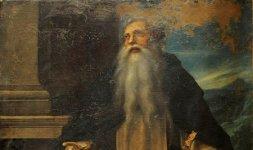 Giovan Battista Crescenzi, Sant'Antonio Abate, olio su tela, cm 219x132. Sant'Eutizio (Preci), chiesa abbaziale (Foto ©Massimo Achilli-SABAP Umbria)