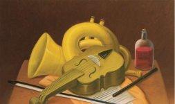 Natura morta con strumenti musicali, 2004