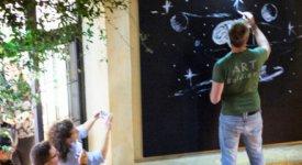 Un live painting sull'immigrazione: Mauro Sgarbi incanta il pubblico di ArchitectsParty